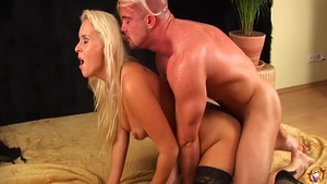 Super sexy Kalina Ryu blonde sucking cock sex scene