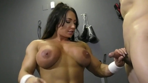 Pussy licking sex tape along with muscle fetish Brandi Mae