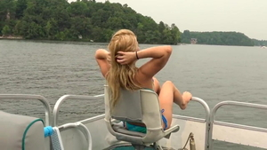 Blonde Lilly Ford bikini homemade creampie on the boat