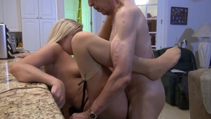 Erotic blonde sucking cock