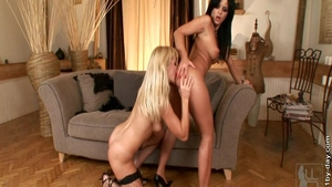 Ramming hard escorted by hot brunette Black Angelika