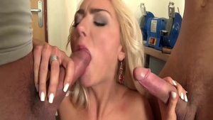 Beautiful babe Victoria Puppy gets a buzz out of cumshot