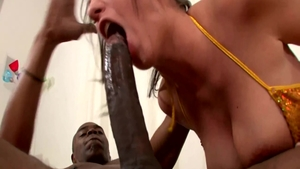 Large boobs busty ebony whore Kelly Divine anal interracial