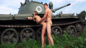 Brunette Viola Bailey doggy fuck outdoors
