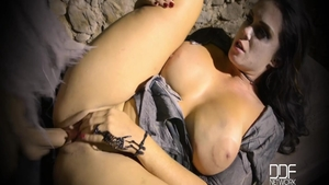 Big tits & busty buxom Alison Tyler humping on Halloween
