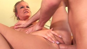 Very sexy mature Katie Gold with James Deen cum on face