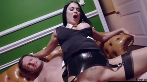 Samantha Bentley in a dress and Jasmine Jae ass fucking