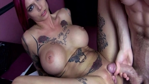 Anna Bell Peaks in the company of Anna Bell blowjob
