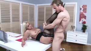 Teen Kylie Page in high heels ass fucking