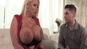Mature Alura Jenson plowed hard during interview