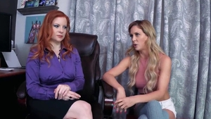 Cherie Deville in company with herie Deville taboo threesome