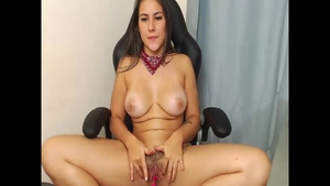 Homemade hard ramming with colombian girl