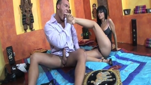 Black Angel in reality rough pussy licking
