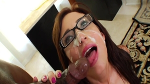 Nerd Hillary Scott interracial banging