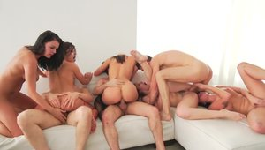Domination orgy with very sexy girl Adriana Chechik