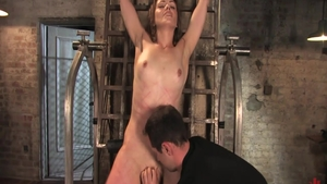 Raw BDSM along with wet pornstar