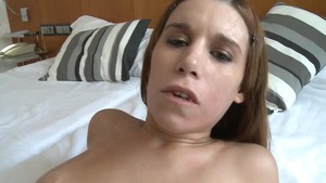 Nice chick POV ass pounding in hotel