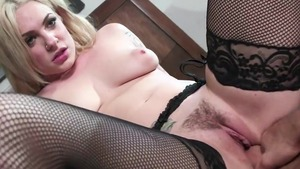 Large tits & busty Dahlia Sky getting facial