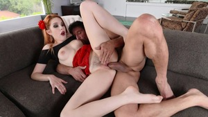 Juicy redhead Amarna Miller really enjoys rough sex