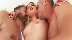 Gangbang together with petite Aubrey Sinclair and Mick Blue
