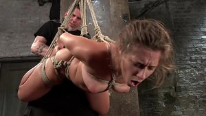 Rough tied up alongside big ass babe Cassidy Klein