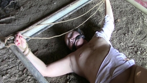 Mature lusts fetish bondage outdoors in HD