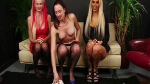 Raw hard pounding along with Alice Judge and Abigail Angel