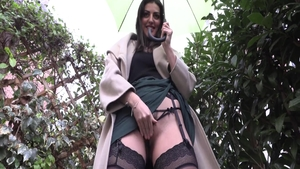 Pussy fucking big butt french in her lingerie in HD