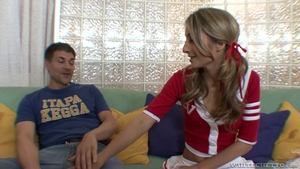 Hard slamming together with perfect teen chick