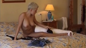 Fetish raw fucking in company with trimmed caucasian girl