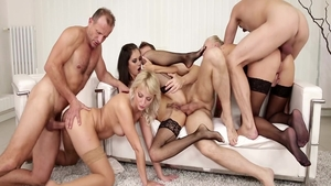 Group sex with young Katy Rose in company with Steve Qute