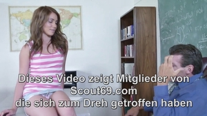 Deepthroat in company with small tits deutsch teen