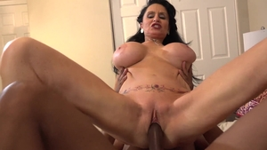 Big boobs Rita Daniels interracial sex cumshot
