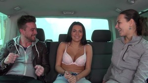 Amateur Wendy Moon group sex in the car