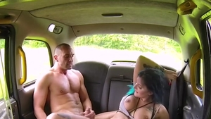Driver Alexxa Vice cumshot outdoors