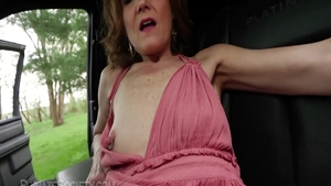 Very ugly babe fingering in the farm HD