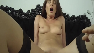 Horny babe Little Caprice POV blowjob