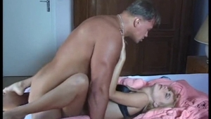 Plowing hard with hairy pornstar