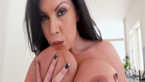 Cock sucking together with perfect babe Sheridan Love