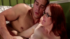 Hot redhead Penny Pax really likes sex wearing glasses