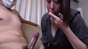 Large tits asian babe blowjobs in Tokyo