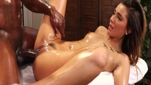 Oily plowing hard escorted by hot Jaye Summers