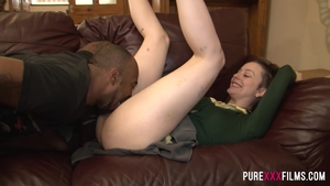 Hard slamming in company with brunette Alessa Savage
