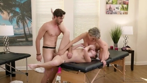 Hard fucking escorted by huge boobs mature