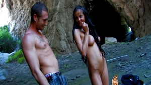 Latina Candy Alexa pussy fuck outdoors in HD