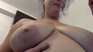 Chubby secretary fetish bends to get fucked