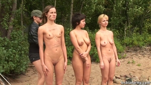 Big boobs lesbians pussy licking & group sex outdoors HD