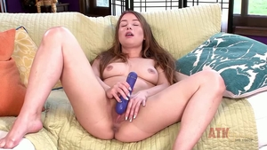 Hairy Taylor Sands playing with toys