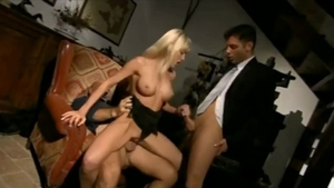 Nailed rough along with huge tits exhibitionist
