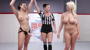 Babe Penny Barber in company with London RIver wrestling